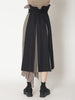 Pleats combination skirt