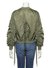 Load image into Gallery viewer, Lace-Up Design Blouson (SWFJ191012)