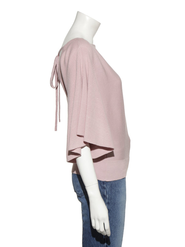Flared Sleeve Dolman Knit Pullover