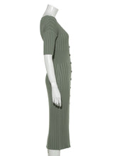 Load image into Gallery viewer, Open Front Wide-Ribbed Knit Dress (SWNO191053)