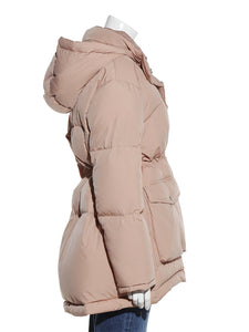 Drawstring Waist Down Jacket