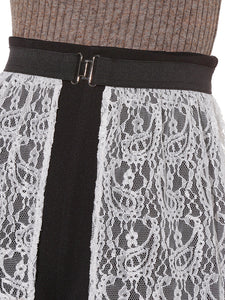 Tiered Lace Covered Skirt