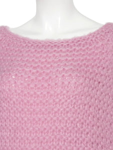 Mohair Low Gauge Hand Knit Top (SWNT185069)