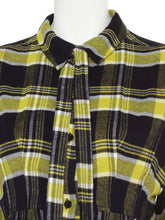 Load image into Gallery viewer, Logo Embroidered Flannel Shirt Dress (SWFO185139)