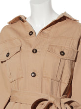 Load image into Gallery viewer, Waisted Marked Military Designed Jacket (SWFJ192003)