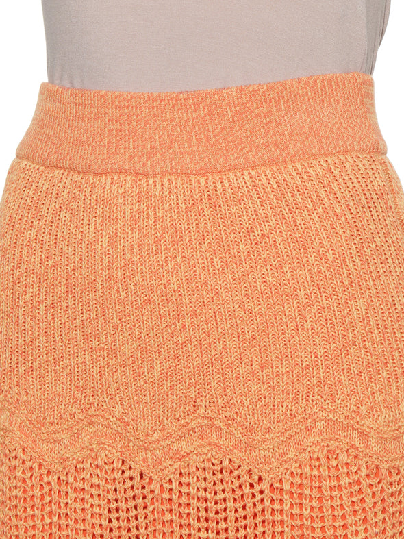 Crochet Like Knit Skirt