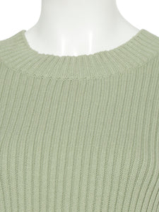 Boat Neck Knit Pullover