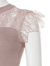 Load image into Gallery viewer, Lace Combined Non-sleeve Knit Top