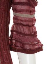 Load image into Gallery viewer, See Through Tight Frill Knit Mini Dress (SWNO185046)