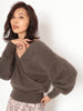 Racoon Fur Wrap Sweater