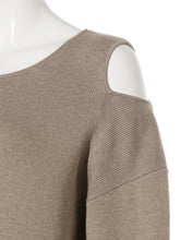 Load image into Gallery viewer, Asymmetric Back Button Up Knit Pullover