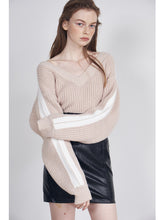 Load image into Gallery viewer, Striped Arm Knit Top (SWNT185079)