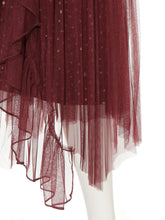 Load image into Gallery viewer, Irregular Hem Tulle Pleated Skirt