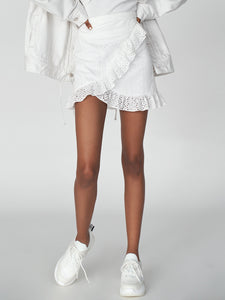 Frilled Wrap Mini Skirt (SWFS191136)