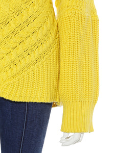 Oversized Cable Knit Sweater (SWNT184103)