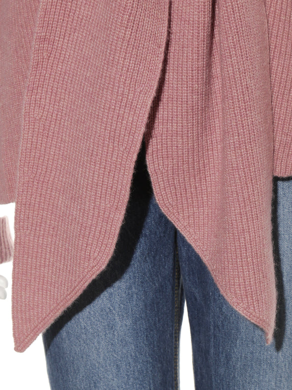 Tie front knit cardigan