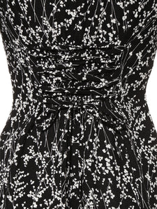 Flower Patterned Tight Dress (SWFO192010)