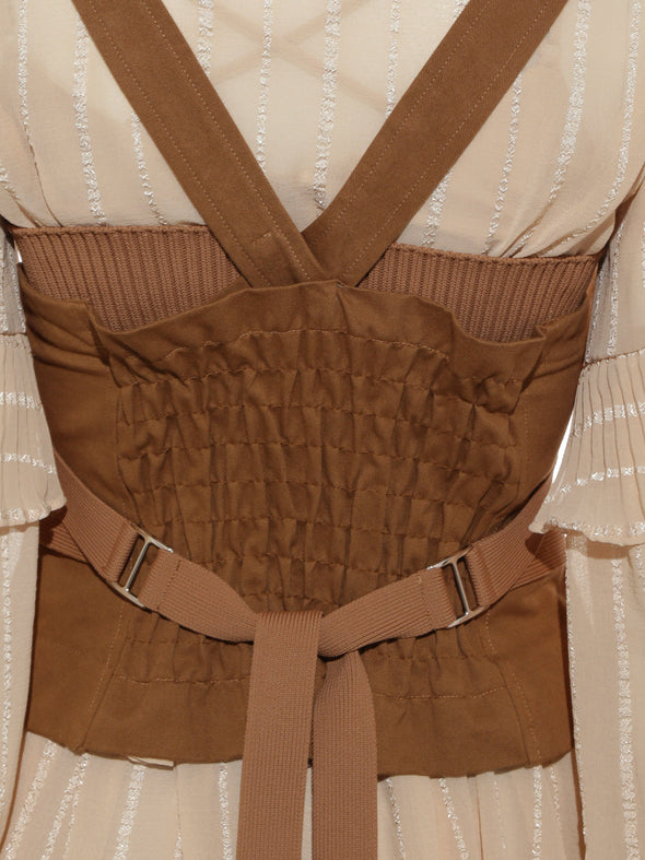 Mixed Material Bustier