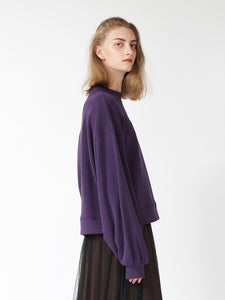 Oversized Pullover Sweater with Logo (SWCT185089)