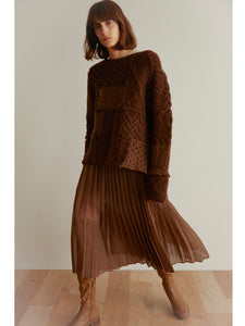 Accordion Pleated Sheer Skirt