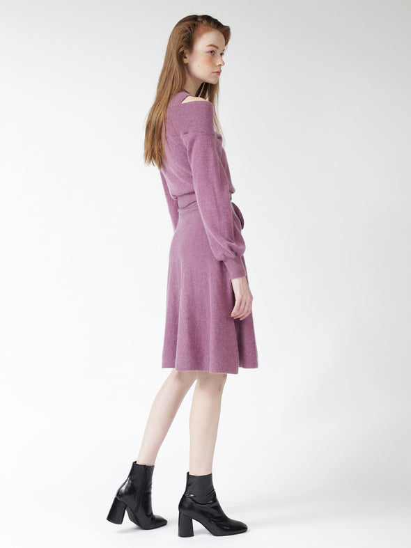 Marked Waist Knit Dress