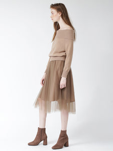 Tulle + Knit Combo Dress (SWNO185036)