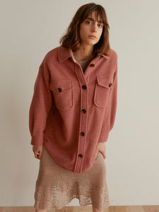 Button Down Wool Jacket