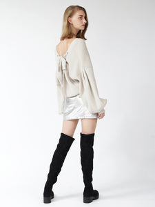 Rear Lace Up Cardigan (SWNT185059)