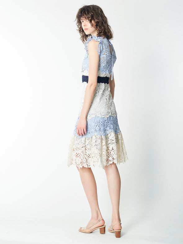 Detailed Laces Combined Dress