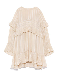Frilled Tunic Blouse (SWFB184084)