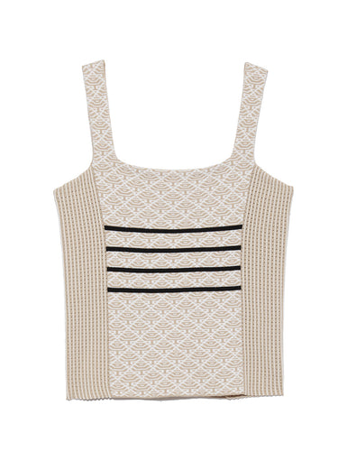 Colorblocked Knit Tank Top (SWNT191170)