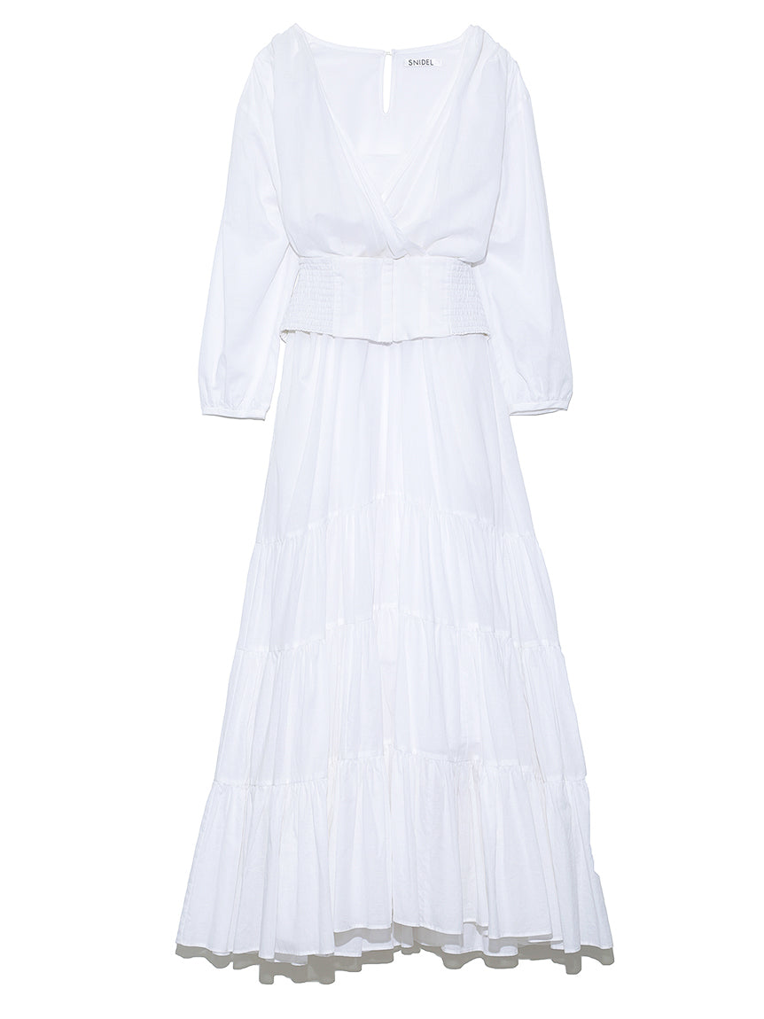 Cache-coeur Cotton Linen Dress (SWFO191043)