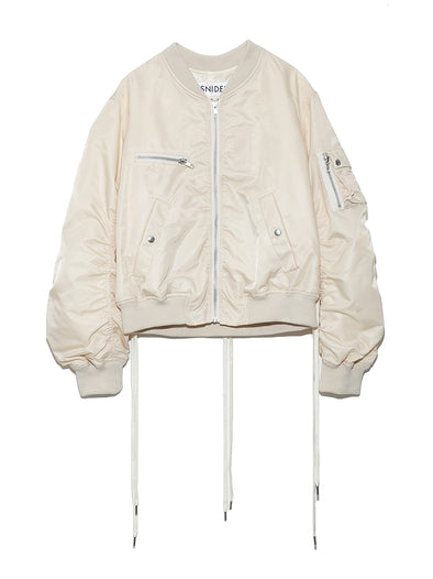 Lace-Up Design Blouson