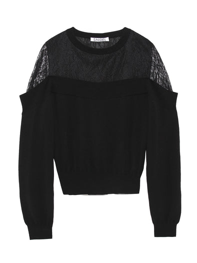Lace Combination Pullover