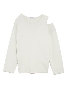 Asymmetric Back Button Up Knit Pullover