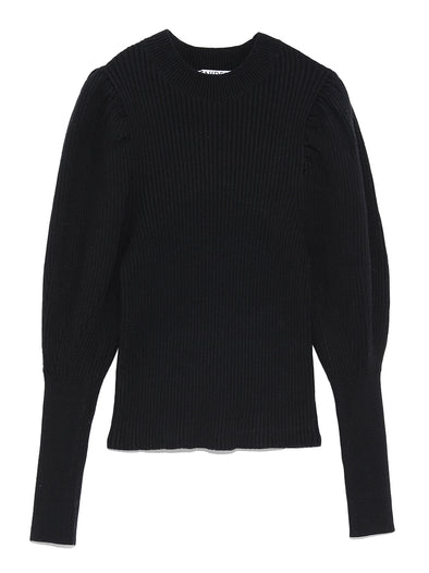 Puff Sleeve Knitted Sweater