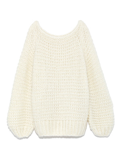 Mohair Low Gauge Hand Knit Top