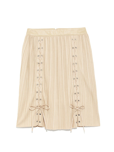 Pleated Lace-Up Skirt (SWFS184143)