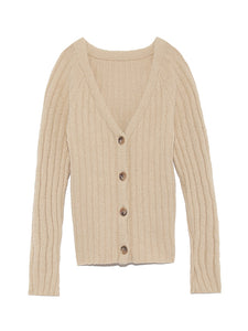 Ribbed Knit Cardigan (SWNT191019)