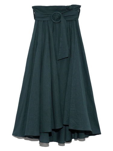 Belt Designed Medium Length Skirt  (SWFS193324)