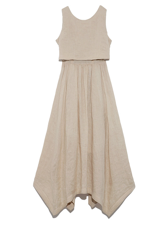 Linen Back Ribbon Dress