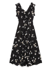 Load image into Gallery viewer, Vintage Flower Patterns Dress (SWFO192007)