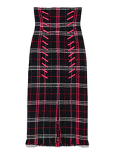 Load image into Gallery viewer, High Waisted Checkered Skirt