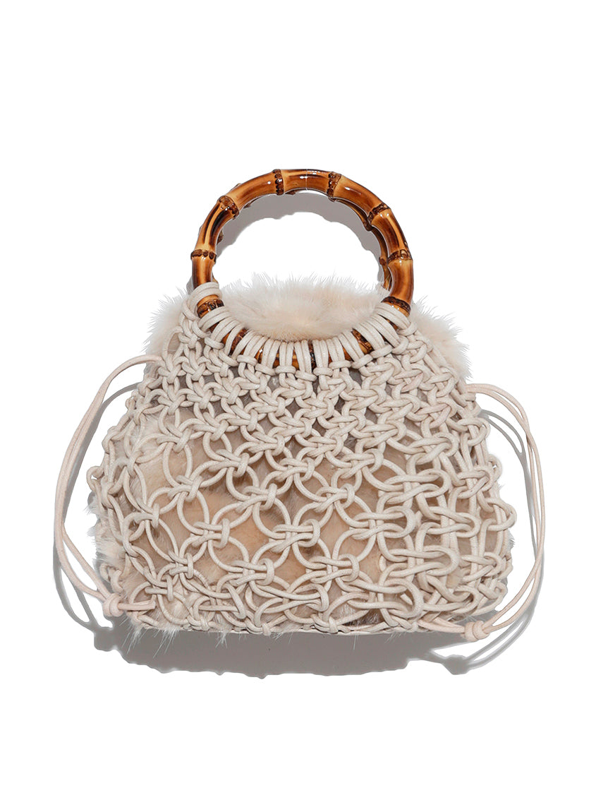 Braided Bamboo Mini Bag (SWGB193802)