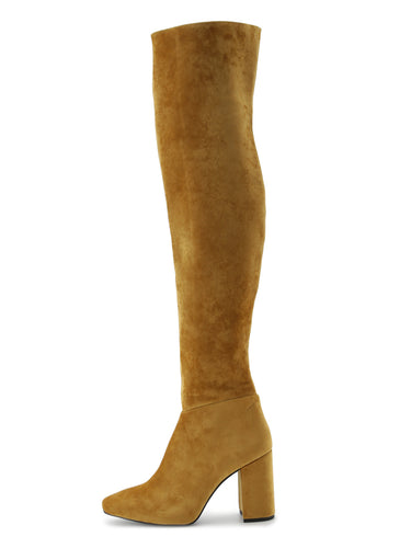 Velour Knee-High Boots (SWGS184615)