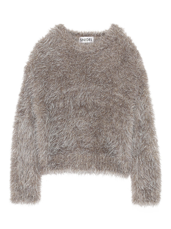 Fur Like Knit Top