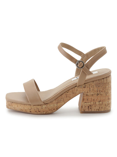 Cork Ankle-Strap Sandals