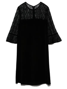 Dress with Lace Sleeves