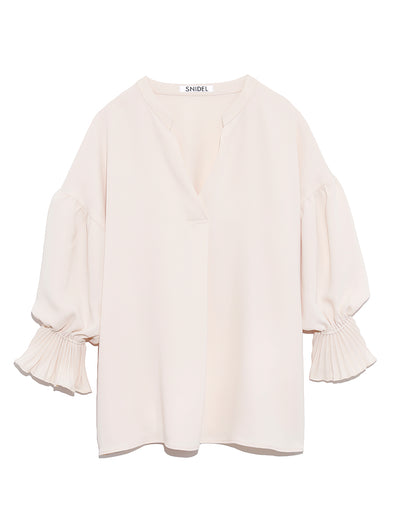 Pleated Sleeve Blouse