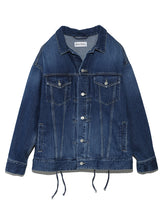 Load image into Gallery viewer, Oversized Lace-Up Jean Jacket (SWFJ191003)